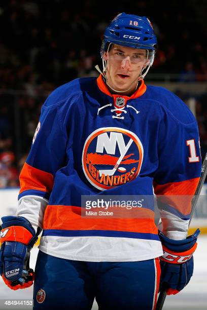 Ryan Strome of the New York Islanders skates against the New Jersey Devils at Nassau Veterans Memorial Coliseum on March 29, 2014 in Uniondale, New...