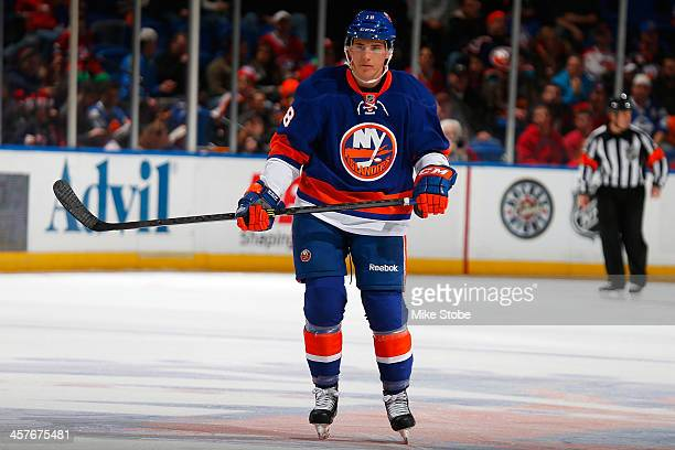 Ryan Strome of the New York Islanders skates in his first NHL game against the Montreal Canadiens at Nassau Veterans Memorial Coliseum on December...