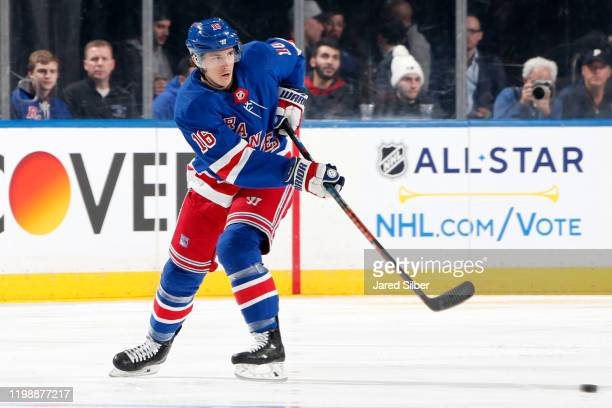 Ryan Strome of the New York Rangers skates against the Colorado Avalanche at Madison Square Garden on January 07, 2020 in New York City.