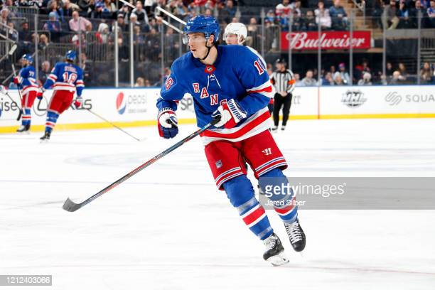 Ryan Strome of the New York Rangers skates against the Washington Capitals at Madison Square Garden on March 5, 2020 in New York City.