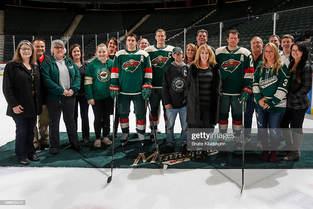 Minnesota wild unveil stadium series jerseys photos and images ryan suter 20 mikko koivu 9 and zach parise 11 of mozeypictures Images
