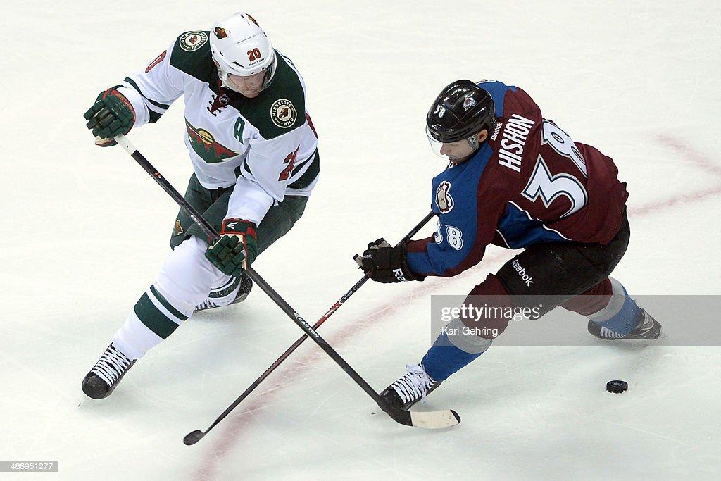 Colorado Avalanche vs Minnesota Wild, NHL Stanley Cup Playoffs 2014 : News Photo