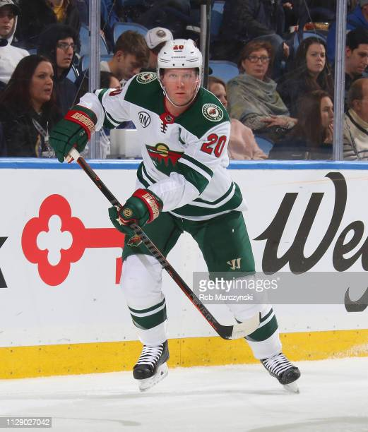 Ryan Suter of the Minnesota Wild skates against the Buffalo Sabres during an NHL game on February 5 2019 at KeyBank Center in Buffalo New York