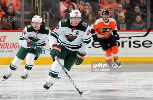Ryan Suter of the Minnesota Wild skates against the Philadelphia Flyers on November 11 2017 at the Wells Fargo Center in Philadelphia Pennsylvania