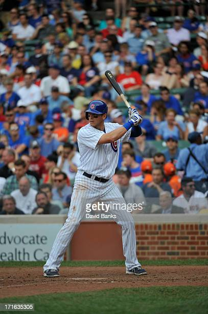 Ryan Sweeney of the Chicago Cubs plays against the Houston Astros on June 22 2013 at Wrigley Field in Chicago Illinois