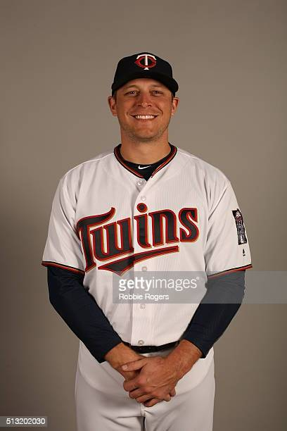Ryan Sweeney of the Minnesota Twins poses during Photo Day on Tuesday March 1 2016 at Hammond Stadium in Fort Myers Florida