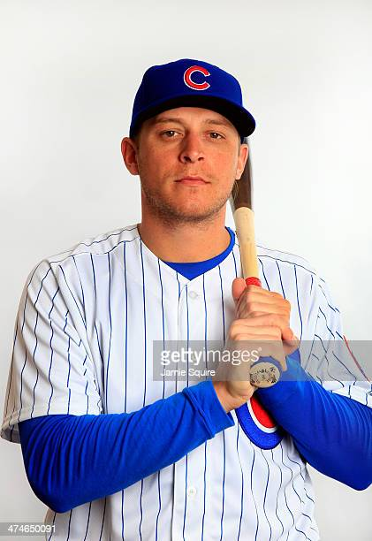 Ryan Sweeney poses during Chicago Cubs photo day on February 24 2014 in Tempe Arizona