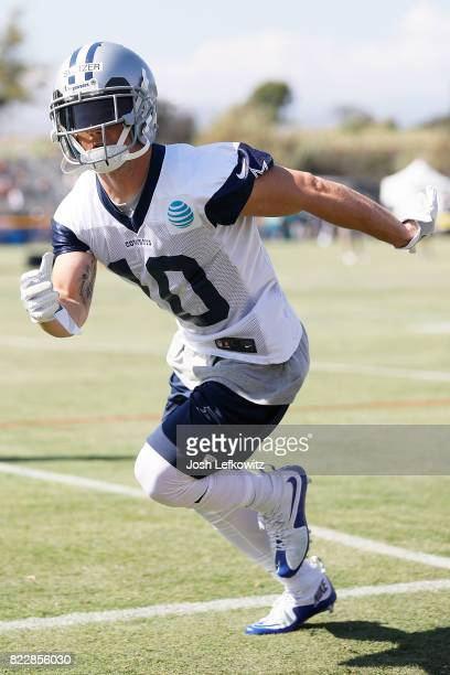 Ryan Switzer of the Dallas Cowboys runs through a drill during afternoon practice on July 25 2017 in Oxnard California