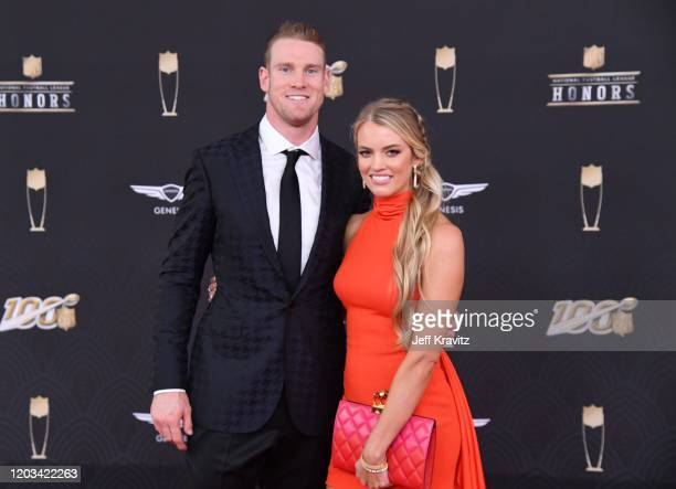 Ryan Tannehill and Lauren Tannehill attend the 9th Annual NFL Honors at Adrienne Arsht Center on February 01 2020 in Miami Florida