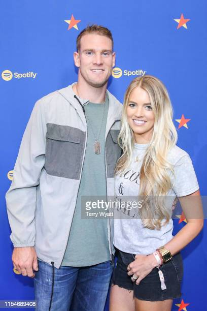 Ryan Tannehill and Lauren Tannehill visit Spotify House during CMA Fest at Ole Red on June 08 2019 in Nashville Tennessee