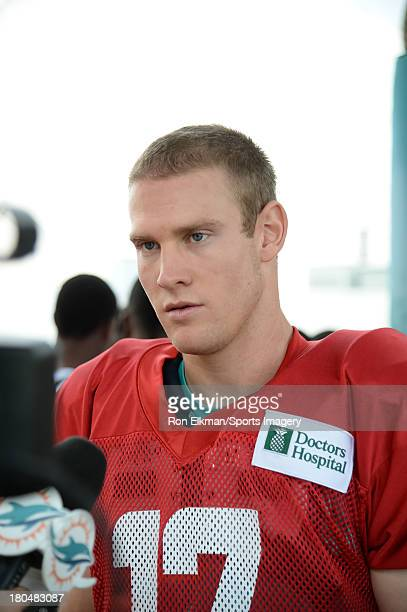 Ryan Tannehill hosts students from American Senior High School at Dolphins training camp on August 15 2013 in Davie Florida