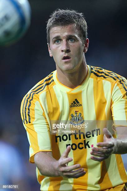 Ryan Taylor in action during a preseason friendly match between Huddersfield Town and Newcastle United at the Galpharm Stadium on July 21 2009 in...