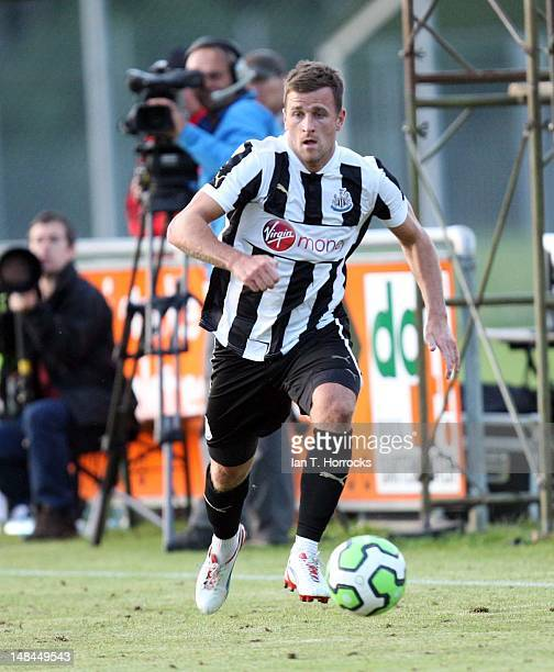 Ryan Taylor of Newcastle United during a pre season friendly match between Newcastle United and AS Monaco at the HackerPschorr Sports Park on July 16...