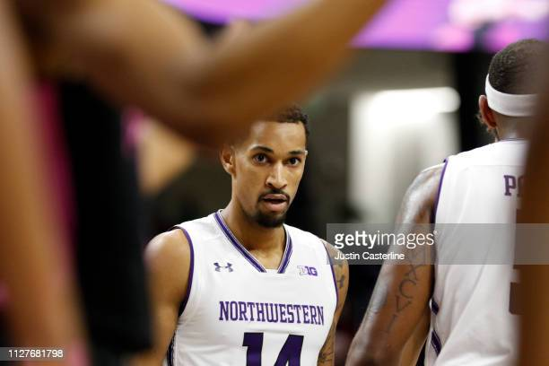 Ryan Taylor of the Northwestern Wildcats in action in the game against the Penn State Nittany Lions during the second half at WelshRyan Arena on...