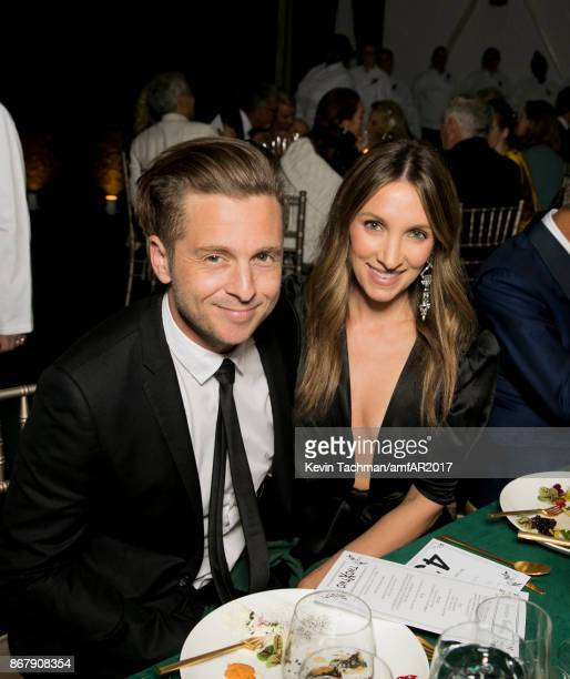 Ryan Tedder and Genevieve Tedder at TWO X TWO for AIDS and Art 2017 at The Rachofsky House on October 28 2017 in Dallas Texas