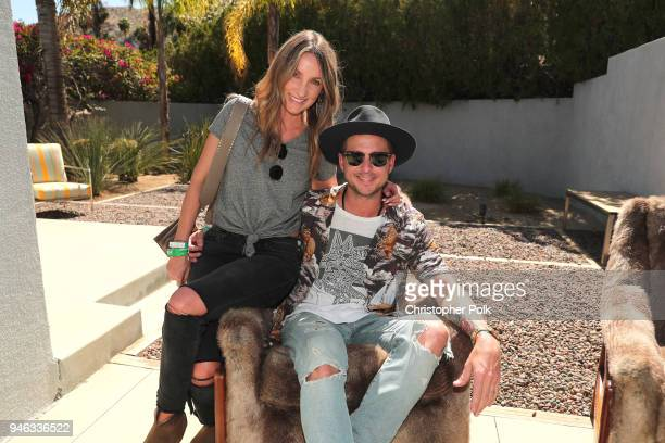 Ryan Tedder and Genevieve Tedder attend Interscope Coachella House 2018 on April 14 2018 in Palm Springs California