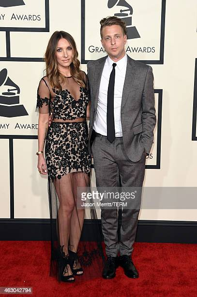 Ryan Tedder and Genevieve Tedder attend The 57th Annual GRAMMY Awards at the STAPLES Center on February 8 2015 in Los Angeles California