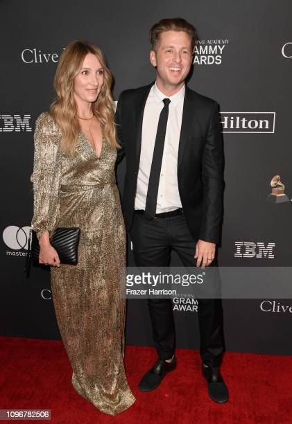 Ryan Tedder and Genevieve Tedder attend the PreGRAMMY Gala and GRAMMY Salute to Industry Icons Honoring Clarence Avant at The Beverly Hilton Hotel on...