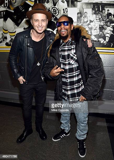 Ryan Tedder and Lil Jon attend KISS 108's Jingle Ball 2014, presented by Market Basket Supermarkets at TD Garden on December 14, 2014 in Boston,...