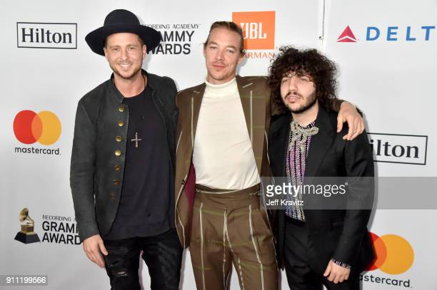 Ryan Tedder Diplo and Benny Blanco attend the Clive Davis and Recording Academy PreGRAMMY Gala and GRAMMY Salute to Industry Icons Honoring JayZ on...