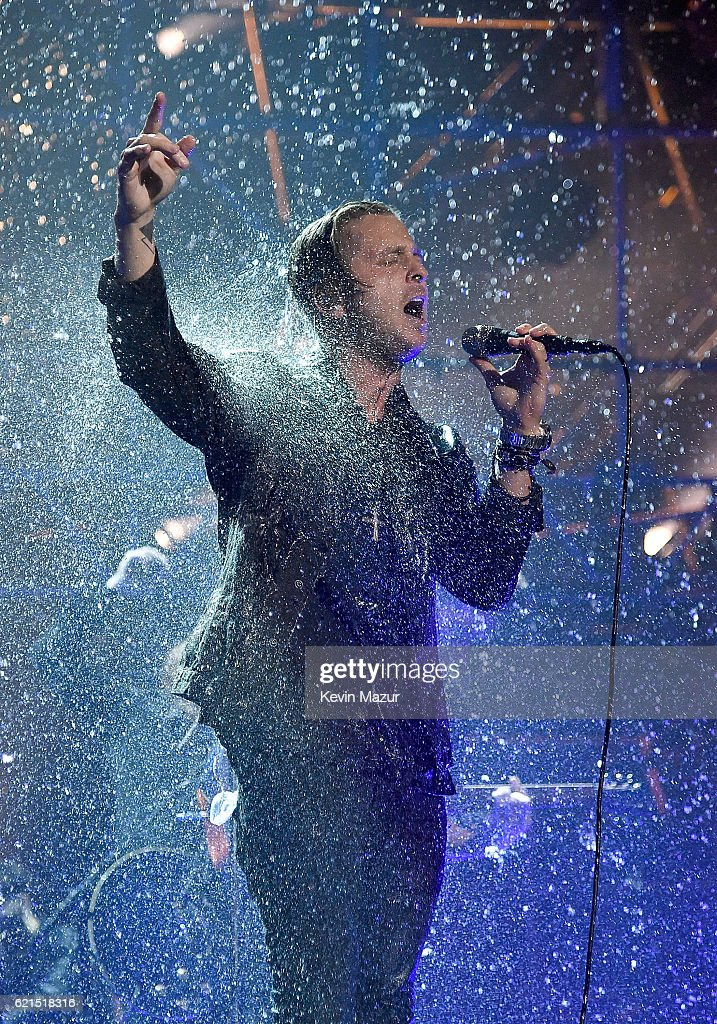 Ryan Tedder of One Republic performs on stage at the MTV Europe Music Awards 2016 on November 6, 2016 in Rotterdam, Netherlands.