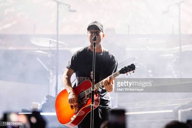 """Ryan Tedder of OneRepublic performs at Enterprise's """"Share the Code Hit the Road"""" at famed venue Pappy Harriet's in Pioneertown CA at Pappy Harriet's..."""
