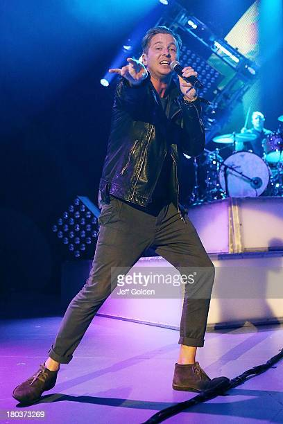 Ryan Tedder of OneRepublic performs at The Greek Theatre on September 11 2013 in Los Angeles California