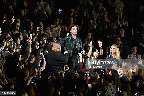 Ryan Tedder of OneRepublic performs during KISS 108's Jingle Ball 2014 presented by Market Basket Supermarkets at TD Garden on December 14 2014 in...