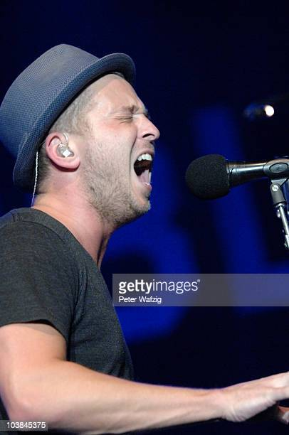 Ryan Tedder of OneRepublic performs on stage at the Palladium on September 04 2010 in Cologne Germany