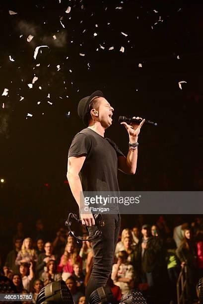 Ryan Tedder of OneRepublic performs onstage at the Q102's Jingle Ball 2014 at Wells Fargo Center on December 10, 2014 in Philadelphia, Pennsylvania.