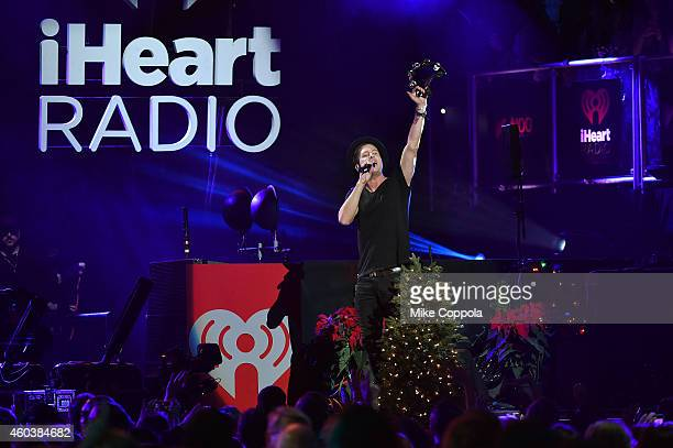Ryan Tedder of OneRepublic performs onstage during iHeartRadio Jingle Ball 2014 hosted by Z100 New York and presented by Goldfish Puffs at Madison...