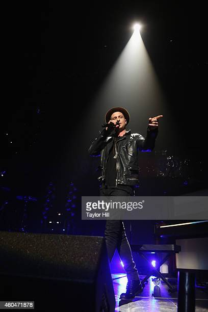 Ryan Tedder of OneRepublic performs onstage during KISS 108's Jingle Ball 2014 presented by Market Basket Supermarkets at TD Garden on December 14...