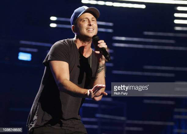 Ryan Tedder performs onstage during the 2018 iHeartRadio Music Festival at TMobile Arena on September 22 2018 in Las Vegas Nevada