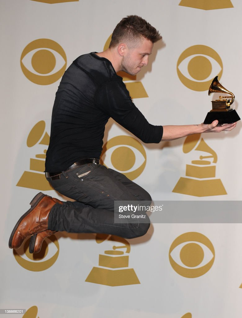 Ryan Tedder poses in the Media Center during the 54th Annual GRAMMY Awards at Staples Center on February 12, 2012 in Los Angeles, California.