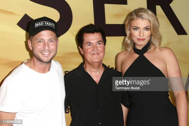 Ryan Tedder Simon Fuller and Lola Lennox attend the Los Angeles Special Screening Of Discovery's Serengeti at Wallis Annenberg Center for the...