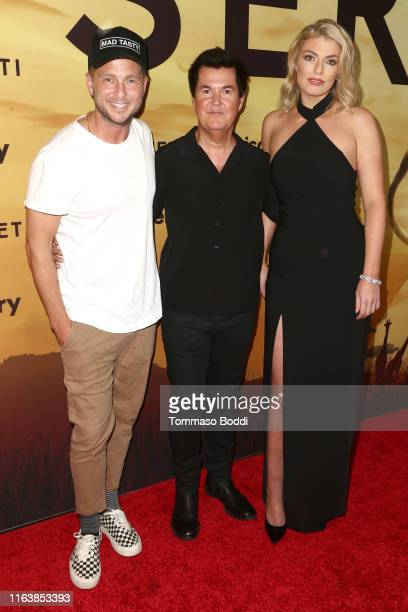 """Ryan Tedder, Simon Fuller and Lola Lennox attend the Los Angeles Special Screening Of Discovery's """"Serengeti"""" at Wallis Annenberg Center for the..."""
