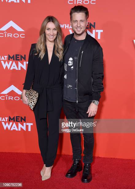 Ryan Tedder singer of OneRepublic and wife Genevieve Tedder attend Paramount Pictures' What Men Want Premiere at Regency Village Theatre on January...