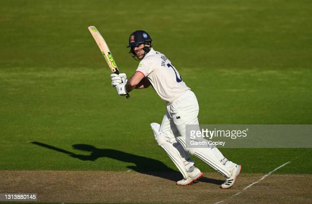 Ryan ten Doeschate of Essex bats during the LV= Insurance County Championship match between Warwickshire and Essex at Edgbaston on April 22, 2021 in...