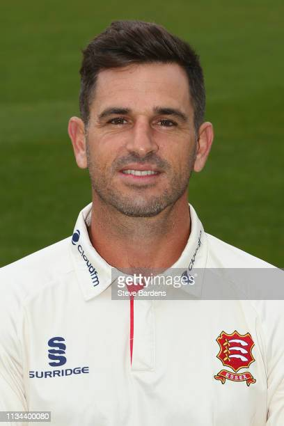 Ryan ten Doeschate of Essex County Cricket Club poses in the club's Championship kit during the Essex CCC Photocall at Cloudfm County Ground on April...