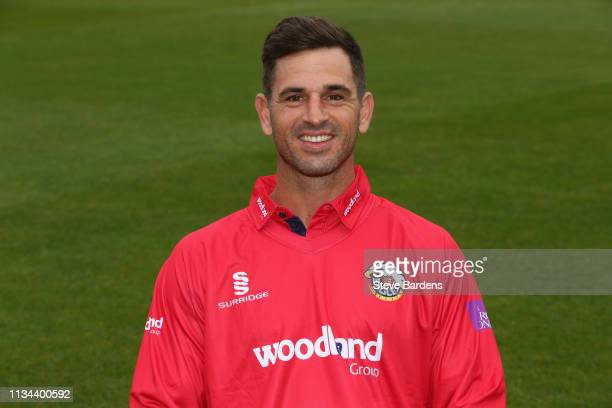 Ryan ten Doeschate of Essex County Cricket Club poses in the club's OneDay kit during the Essex CCC Photocall at the Cloudfm County Ground on April 2...