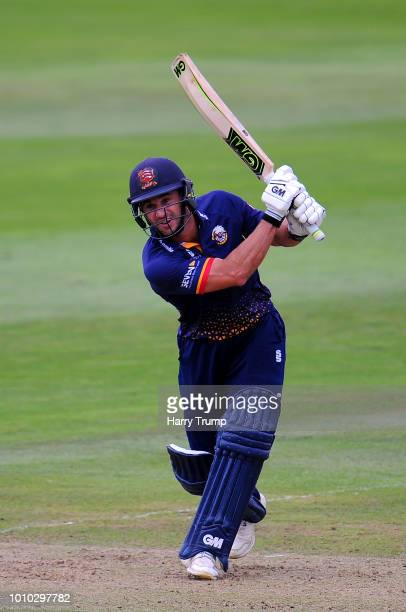 Ryan Ten Doeschate of Essex Eagles bats during the Vitality Blast match between Somerset and Essex Eagles at the Cooper Associates County Ground on...