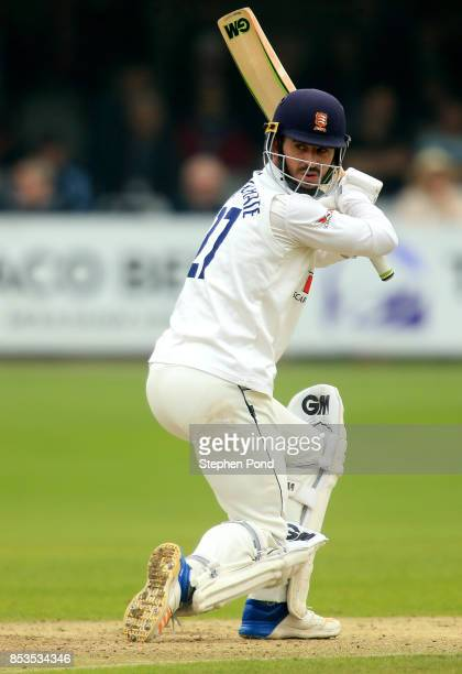 Ryan ten Doeschate of Essex hits out during day one of the Specsavers County Championship Division One match between Essex and Yorkshire at the...
