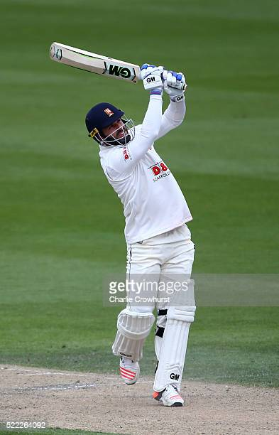 Ryan ten Doeschate of Essex hits out during day two of the Specsavers County Championship Division Two match between Sussex and Essex at The 1st...
