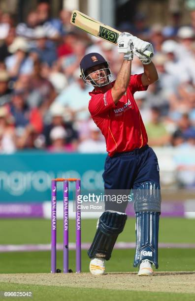 Ryan ten Doeschate of Essex hits out during the Royal London OneDay Cup Semi Final between Essex and Nottinghamshire at Cloudfm County Ground on June...