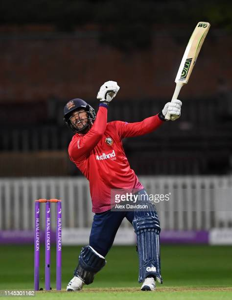 Ryan Ten Doeschate of Essex in action during the Royal London One Day Cup match between Somerset and Essex at The Cooper Associates County Ground on...