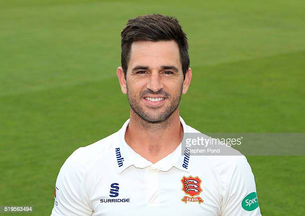 Ryan ten Doeschate of Essex poses for a photo during the Essex County Cricket Club media day at The County Ground on April 7 2016 in Chelmsford...