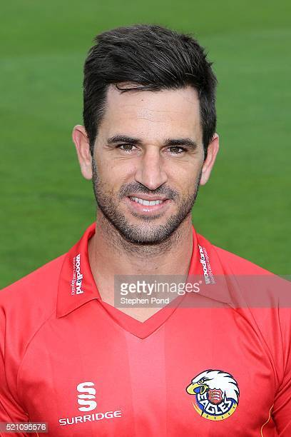 Ryan ten Doeschate of Essex poses for a photograph during the Essex County Cricket Club media day at The County Ground on April 7 2016 in Chelmsford...