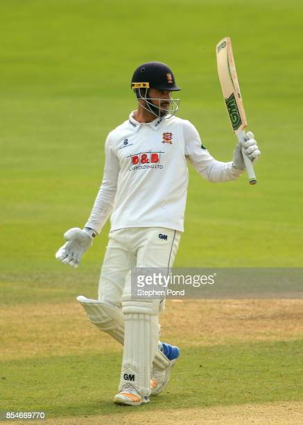 Ryan ten Doeschate of Essex reaches 50 runs not out during day three of the Specsavers County Championship Division One match between Essex and...