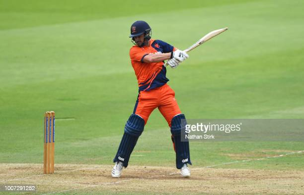 Ryan ten Doeschate of Netherlands batting during the T20 Triangular Tournament match between Netherlands and Nepal at Lords on July 29 2018 in London...