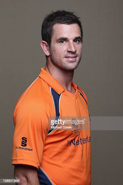 Ryan ten Doeschate of the Netherlands ahead of the 2011 ICC World Cup at the Hilton Hotel on February 9 2011 in Colombo Sri Lanka